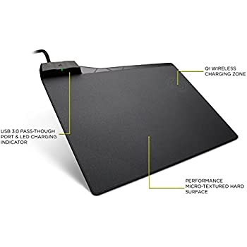 CORSAIR MM1000 Qi Wireless Charging Mouse Pad - Adapters Included for Most Smartphones Including iPhone and Android (CH-9440022-NA)