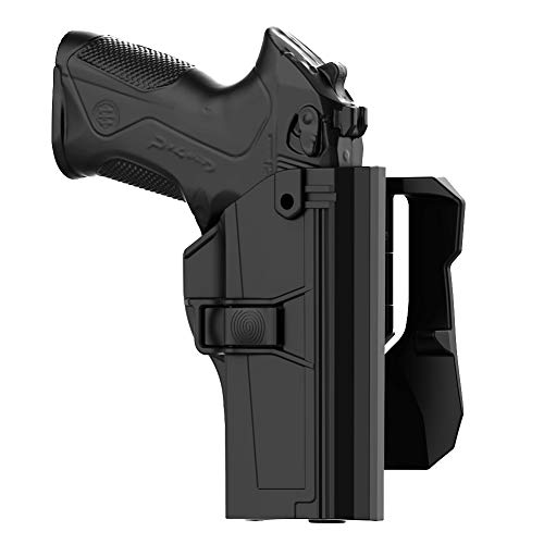 TEGE Beretta PX4 Storm Holster, Beretta PX-4 Storm Full Size Paddle Holster, Tactical Outside Waistband Holster with 360° Adjustable Cant Fits Beretta PX 4 Storm 9mm .40 S&W, OWB Carry, Right-Handed (Holster For Beretta Px4 Storm Compact 9mm)