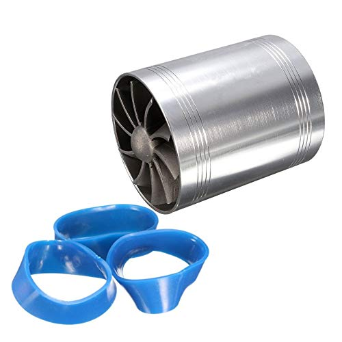 BFHCVDF Car Supercharger Air Intake Turbonator Dual Fan Turbine Gas Fuel Saver Turbo Silvery: Amazon.co.uk: Kitchen & Home