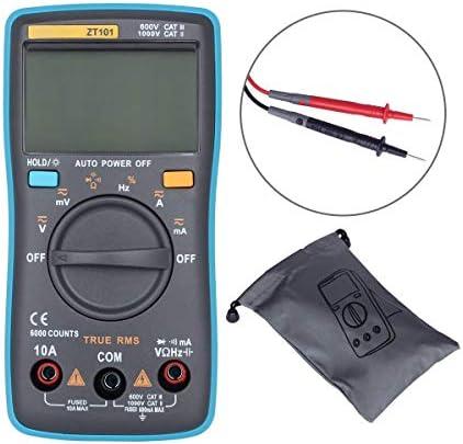 Tyannan 電流計電圧計ZT101ミニデジタルマルチメータ6000のカウントAC / DC電流計と電圧計