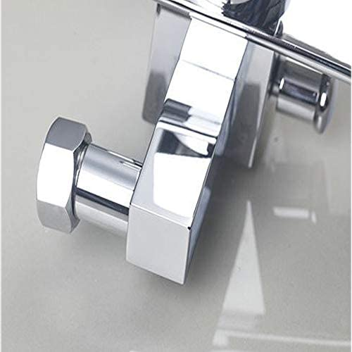 クロム浴室バスタブ蛇口シングルハンドル真鍮風呂シャワーセットウォールは、ハンドヘルドシャワーとバスタブの滝のミキサーのタップをマウント