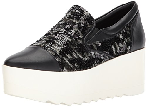 KENDALL + KYLIE Women's Tanya Sneaker, Black, 9 Medium US by KENDALL + KYLIE