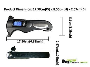 Mugen Power 5 In 1 Digital Tire Pressure Gauge - Safety