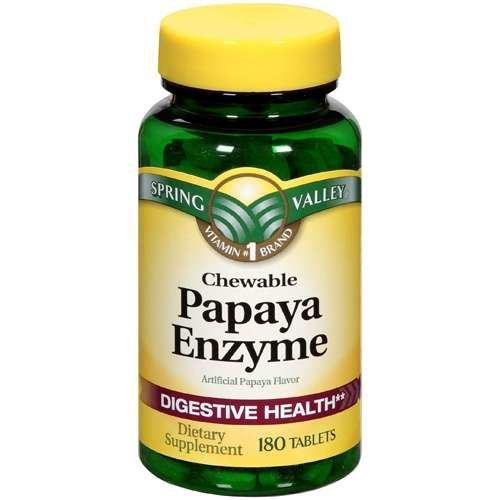 Spring Valley - Papaya Enzyme, 180 Chewable Tablets ()