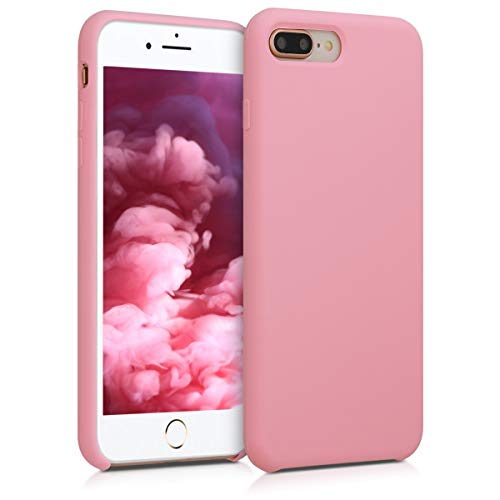 kwmobile TPU Silicone Case for Apple iPhone 7 Plus / 8 Plus - Soft Flexible Rubber Protective Cover - Light Pink ()