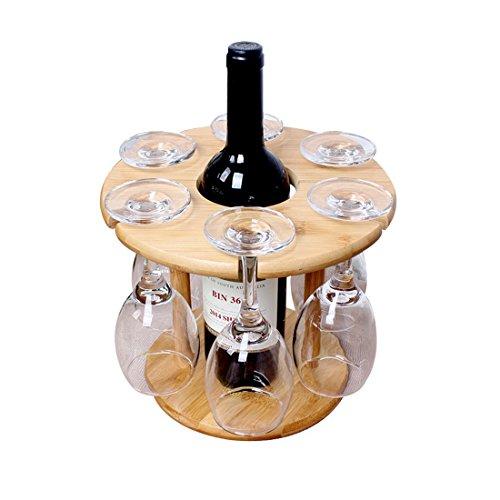 btibpse bambú mesa Copas de vino estante rack de secado para encimera y al aire última intervensión