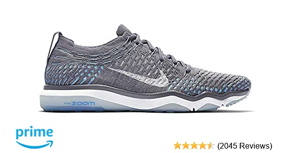 Nike Womens W Air Zoom Fearless Flyknit (12 B(M) US, Cool GreyWhite Polarized Blue)