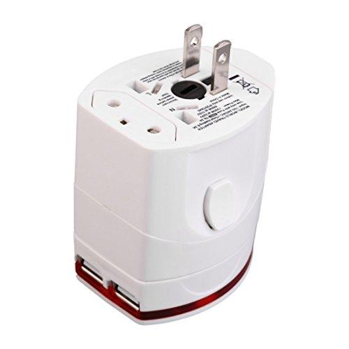 Toogoo 4-in-1 Global Travel Multi-function multi-standard conversion plug dual USB charging port travel charger to go abroad conversion (4in 1 Multi Socket)