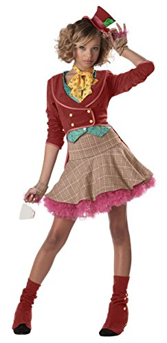 Cute Mad Hatter Costume For Girls (Teen Mad Hatter Costume - Teen Size 7-9)