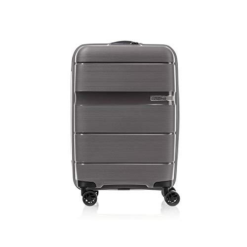 American Tourister Polypropylene 55 cms Linex Titanium Hardsided Cabin Luggage