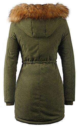 Longues iLoveSIA Manteau Green Army Parka Femme Manches xR7dtxwqr