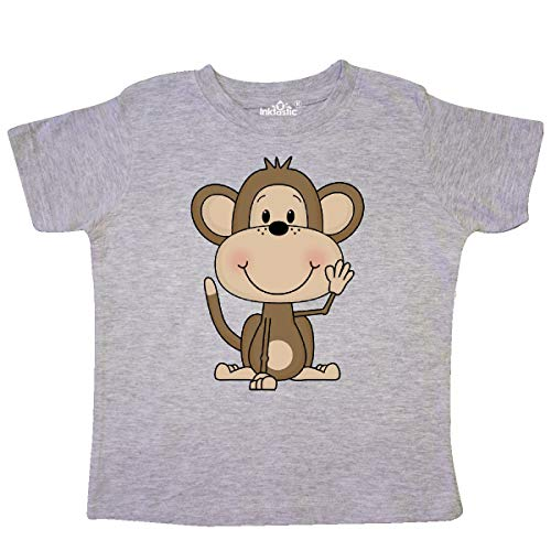 inktastic - Monkey Toddler T-Shirt 3T Heather Grey 19c03 ()