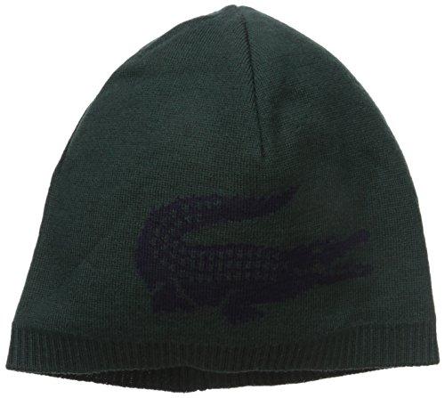 b728def6da5 Lacoste Men s Large Contrast Croc Jacquard Wool Beanie