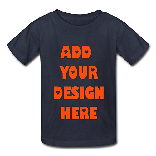 Baby Boys Girls Custom Personalized t-shirt with your own design (Navy - 12 months )