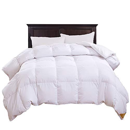 puredown® All Season Luxury White Down Comforter Down Fiber Duvet Insert 100% Cotton Shell Down Proof