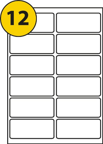 12 labels per page sheet 50 sheets self adhesive a4 address labels
