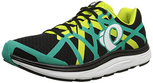 Pearl iZUMi Men EM Road H3 v2 Running Shoe Black/Dynasty Green