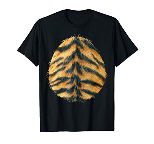 Halloween Easy Tiger Costume Belly Shirt for Kids