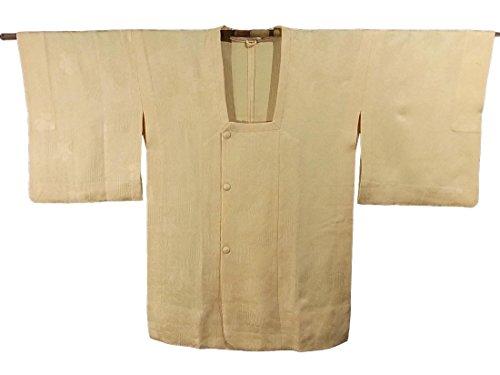 脆い気分が悪いスキルリサイクル 道行コート たまご色 ひとえ仕立て 正絹 裄63cm 身丈83cm