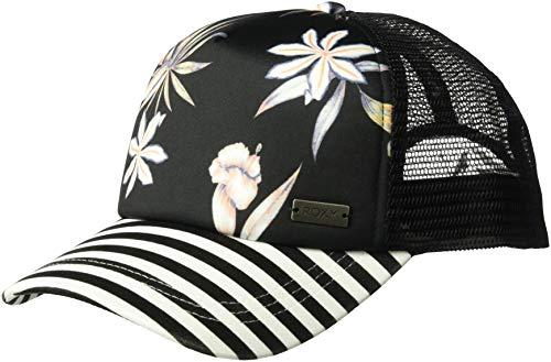 Roxy Women's Water Come Down Trucker Hat, True Black Delicate Flowers, One Size from Roxy