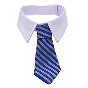 Adjustable Twill Cotton Tie fit for Small Dogs Cats Puppy by Kailian