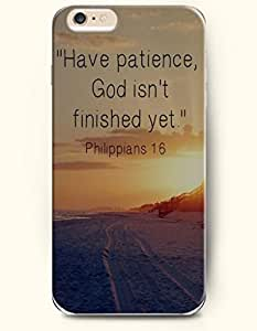 SevenArc Hard Phone Case for Apple iPhone 6 Plus ( iPhone 6 + )( 5.5 inches) - Have Patience God Isn'T Finished Yet...