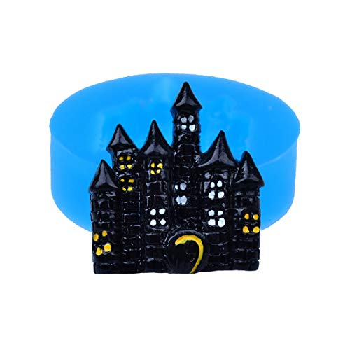 3pcs 28.2mm Halloween Haunted Silicone Mold - Castle Push Mold Fondant Chocolate Cake Decoration Gum Paste Resin Clay Mold -
