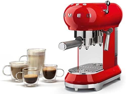 ECF01 - Máquina de café con portafiltro rojo/14,9 x 33 x ...