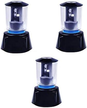電動鉛筆削り ポータブルエレクトリックプラスチックスモール削りのUSB充電式自動削りアート専門のスケッチ3つの小品絵画のために 子供用鉛筆削り (Color : Blue, Size : 8.5x8.5x13.2cm)