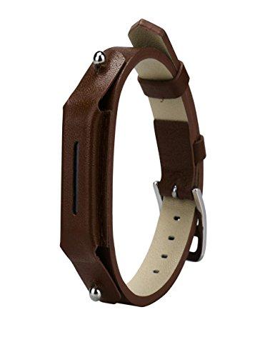 Dreaman Luxury Leather Watch band Wrist strap For Fitbit Flex 2 Smart Watch (Flex Leather)