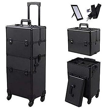 a8b436eeae92 Amazon.com : YYAO 3 in 1 Professional Makeup Case Aluminum Cosmetic ...