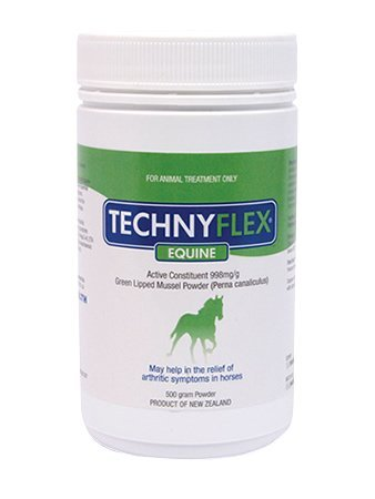 Technyflex Equine Premium Joint Supplement 500 Gram Reduces Pain, Swelling, Inflammation From Arthritis and DJD. 100% New Zealand Greenlipped Mussel With Omega 3's Improves Flexibility And Movement by Technyflex