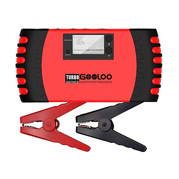 GOOLOO 1500A Peak 20800mAh SuperSafe Car Jump Starter with USB Quick Charge 3.0 (Up...