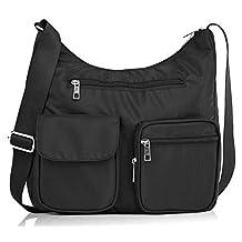 Suvelle Carryall RFID Travel Crossbody Bag, Handbag, Purse, Shoulder Bag, BA10