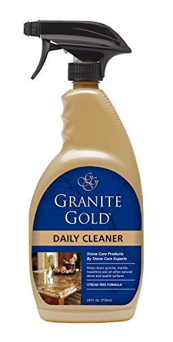 Granite Gold Daily Cleaner Spray - Streak-Free Stone Cleaning Formula, Made In The USA - 24 Ounces