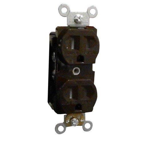Morris 82502 Weather/Tamper Resistant Duplex Receptacle, 15 Amp Current, 125V, Brown - 15a Tamper Resistant Receptacle