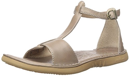 Bogs Women's Amma Leather Sandal, Taupe, 9 M - Brown Amma
