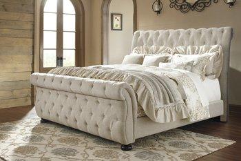 Ashley Furniture Signature Design - Willenburg Queen Upholstered Rails - Component Piece - Dark Brown by Ashley Furniture Industries Inc