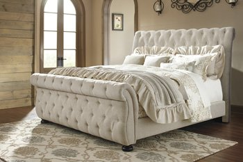 Signature Design by Ashley B643-74 Willenburg Upholstered Footboard, Queen - Ashley Furniture Bed