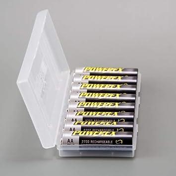 Powerex Estuche Organizador 8 Pilas AA o 11 AAA: Amazon.es: Electrónica