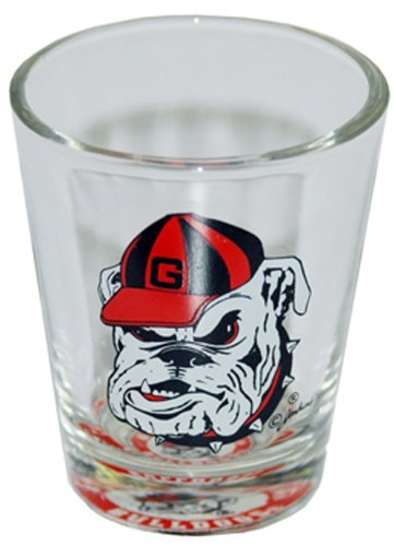 NCAA Georgia Bulldogs Shotglass Bullseye Bottom (Georgia Shot Glass)