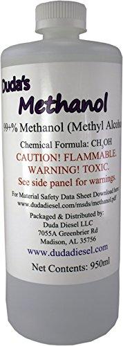 Duda Diesel meth 950ml/32 Oz Bottle of Pure Methanol Racing Biodiesel Gasoline Antifreeze Windshield Wiper Fluid, 33.81 Ounces by Duda Diesel