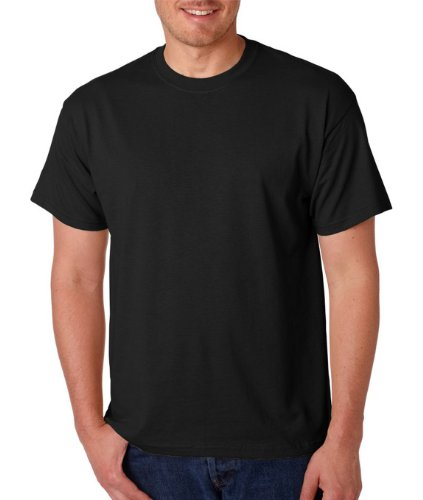[Gildan Adult 5.6 oz 50/50 Short Sleeve T-Shirt in Black - Large] (Fifties Outfit)