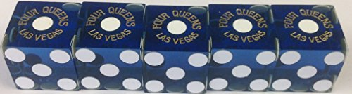 Four Queens Casino stick of used blue dice (5)