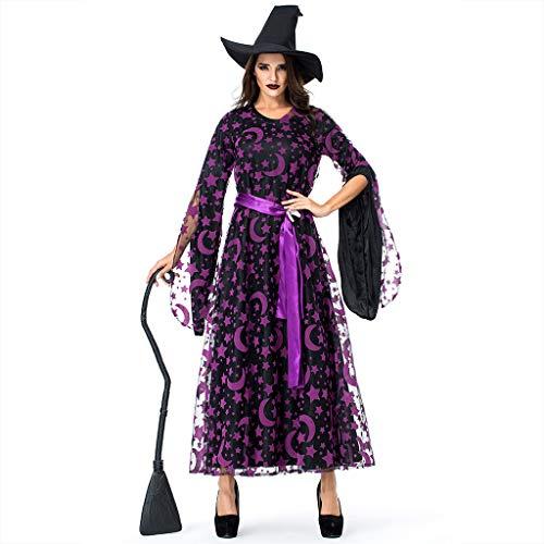 Star Magic Halloween Party 2019 (Goddessvan Fashion Women Halloween Cosplay Party Star Magic Witch Witch Vintage Lace Dress)