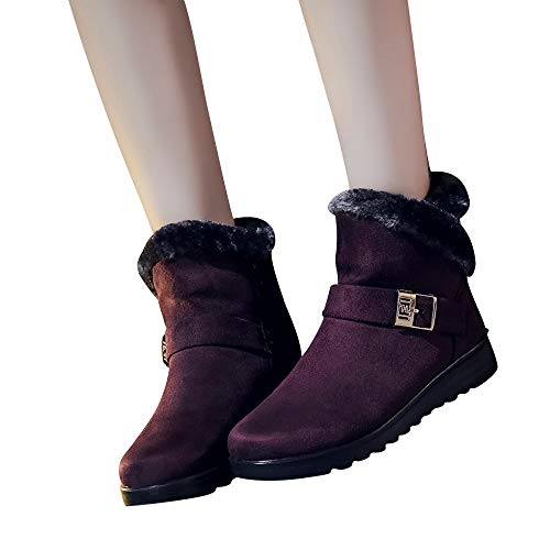 Fashion Clearance High Snow Wedge Ankle Women's Plus top Flat FarJing Boots Boots Wine Winter Sale Shoes Velvet fwXCq