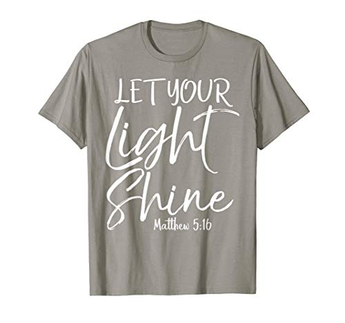 Let Your Light Shine Shirt Vintage Bold Cool Christian Tee (Let Your Light Shine Vacation Bible School)