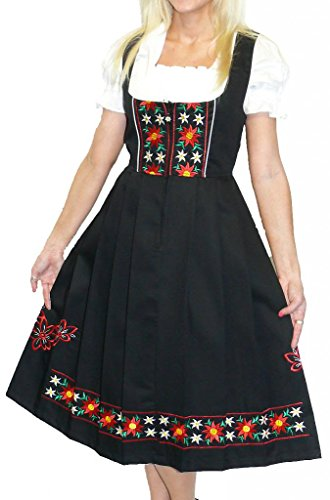 Dirndl-Trachten-Haus-3-Piece-Long-German-Wear-Party-Oktoberfest-Waitress-Dress