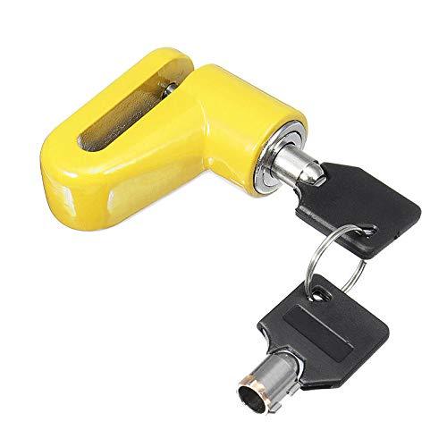 NICOLIE Anti-theft Lock Scooter Wheels Bike Disc Brakes Locker For Xiaomi Mijia M365 - Yellow: