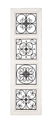 Deco 79 44473 Wall Panel, Black/White